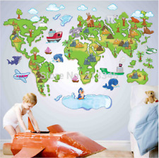 New Removable Cartoon Animal Park Map Wall Stickers For Kids Nursery Room decor