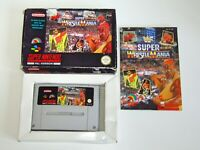 WWF Super Wrestlemania ~ SNES Super Nintendo with Box & Manual