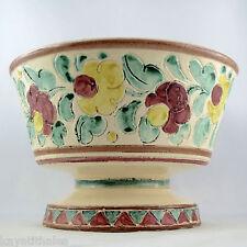 Ancien Vase Coupe Céramique CERAFLOR à MONACO 50/60 cerdazur/cerart/vallauris...