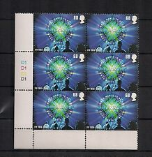 2005 GB QEII ITV MILLIONAIRE COMMEMORATIVE STAMP CYLINDER BLOCK SG 2566 CYL D1