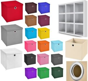 5 STÜCK 32 x 32 x 32 Aufbewahrungsbox Deckel Korb Einschubkorb Faltbox Box Boxen