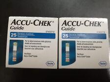 accu-chek guide strisce reattive controllo glicemia 2 confezioni da 25 strisce