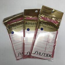 3 Packs New Shiseido Japan Sweat & Oil Blotting Film 210 Sheets Us Seller