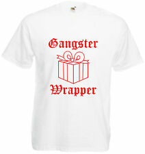 Gangster Wrapper T Shirt Funny Christmas Present Tee Xmas Gift Gangsta Hip Hop
