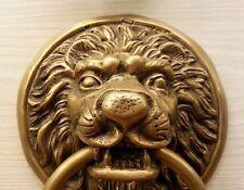 Brass Door LION HEAD1 Figurine Handle Knocker Vintage Pull Hand Home Decor Livin