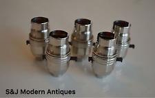 5 BRASS NICKEL SWITCH BAYONET FITTING LAMP BULB HOLDER LAMP SHADE RING 1/2 INCH