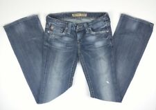 Womens Big Star Sweet Boot Ultra Low Rise 25L Jeans Distressed Light Wash Long