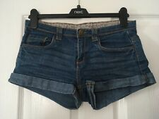 DENIM CO Blue Turn Up Denim Hotpants Shorts Size 10
