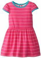 Marmellata Baby Girls' Pink Striped Knit Dress, Pink, 24M