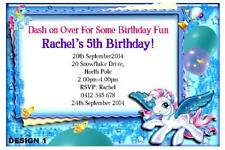 1 x MY LITTLE PONY BIRTHDAY GIRL PERSONALISED INVITATIONS INVITES + FREE MAGNETS