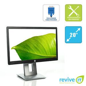 "HP EliteDisplay E202 20"" Widescreen LED-Backlit IPS HDMI VGA Monitor - Grade A"