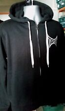 NEW Tapout Hoodie Logo Mens Sweatshirt Zipped Hooded BLACK WHITE Medium A331-17