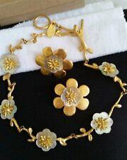 Vintage Haute Design Paris Valerie Viloin Labbe Necklace And Clip Earrings Set