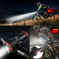 Rechargeable Bike Bicycle Lights LED Cycle Front Back Headlight Rear Set  😁