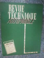 RTA Revue Technique Automobile Num 154 de 1959 Opel Olympia,les Américaines 59