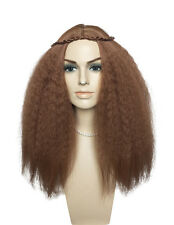 Wig Long Brown Synthetic Fiber Wig Heat Resistant Women Party Wig Hairstyle Wig