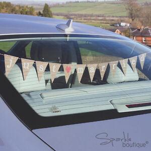 JUST MARRIED CAR BUNTING -Vintage/Retro Wedding Banner/Sign- FULL RANGE IN SHOP!