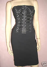Ladies Sexy Dark Grey Lace Up Corset Special Occasion Formal Party Dress Size 8