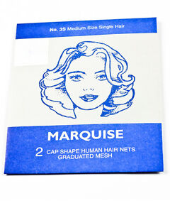 Human Hair Nets, MARQUISE x 4, Two Double Packs, 5 Colours, Best Quality.