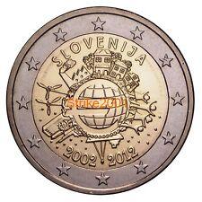 2 EURO COMMEMORATIVO SLOVENIA 2012 10° Anniversario
