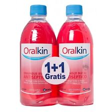 ORALKIN ANTISEPTICO SOLUCION DE 400 ml + 400 ml    100 % ORIGINAL  FLUORKIN