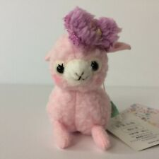 AMUSE Let's Party Baby Alpacasso Pink Girl (8cm) Arpakasso Plush Japan NWT