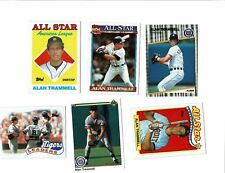 Alan Trammell HOF Tiger lot of 12 cards 6x AS 84 WS Champ 84 WS MVP High Numbers