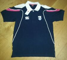 New Womens Canterbury Cardiff Blues Rugby Shirt Cotton Polo UK Small