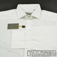 NWT $350 - CANALI Current 1934 White Hidden Placket Cotton Dress Shirt - XL