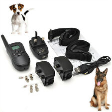 Anti Bark dog training Conditioning shock remote control for two dogs 300m Range