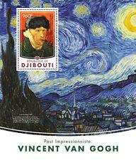 Yibuti 2016 estampillada sin montar o nunca montada Vincent van Gogh 1v S/S autorretratos Arte pinturas sellos