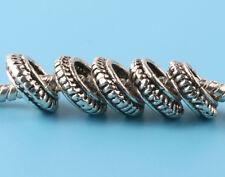 5pcs Tibetan silver Loop Spacer beads fit European Bracelet Chain #B191