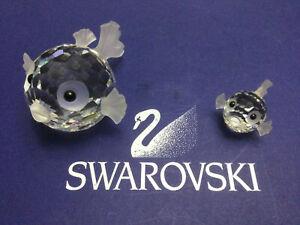 Swarovski Large & Mini Blowfish 7644041000 010013 & 7644020000 012724. MINT