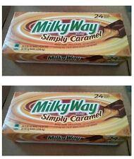 2 *24/1.9oz Milky Way Simply Caramel Snack Candy Bar,Real Milk Chocolate, Mars