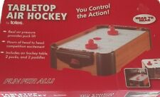 """Tabletop Air Hockey 19""""x11"""" New- in perfect shape- dented/damaged box (pictured)"""