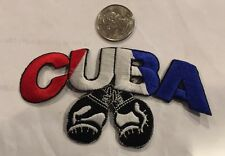 """Embroidered Iron On Cuba Patch Appx. 4 1/4""""x 2 1/4"""". Awesome!"""
