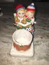 Christmas Candle Holder Figurine