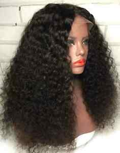 """Kinky Curly 150% Full 13×4×1 T Part Lace Frontal Wigs Real Human Hair Wigs 18"""""""