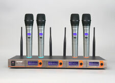 4 Channel VHF Handheld Wireless Microphone Mic System SM-5520 Factory Directly