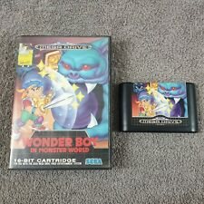 *Sega Mega Drive WONDER BOY IN MONSTER WORLD (NI)*d Boxed PAL UK Version