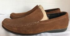 DONALD J PLINER PACO suede beige brown moc toe mocassins driving loafers shoes 9