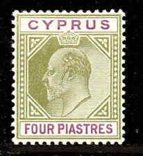 Cyprus 1902 EDVII 4pi wmk crown CA SG 54 mint
