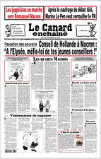 LE CANARD ENCHAÎNÉ n°5037du10/5/17*APRES débat tv mortel LE PEN*Juppéiste-MACRON