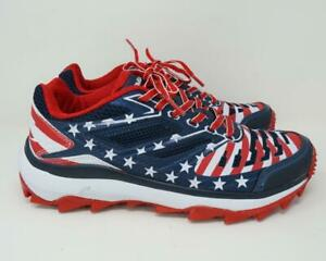 Boombah USA American Flag Turf Sneakers Shoes Red/White/Blue Men's US 8