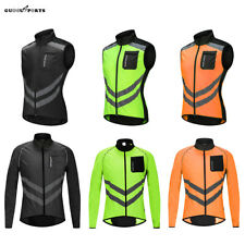 Cycling Jacket Vest Breathable Windbreaker Coat Sleeveless Long Sleeve Top Men