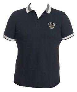 Emporio Armani Ea7 Men  Blue Polo T Shirt Size XL 100% Cotton
