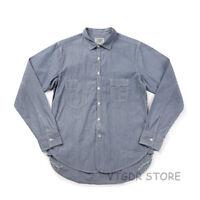 Vintage Bronson Stripe Daily Work Shirt 1920s Long Sleeve Pocket Shirts For Men