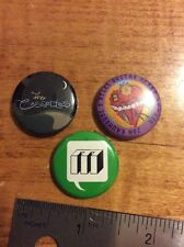 "Button Badges  X 3 1"" Monitor Records Jon Rauhouse The Cassettes Indie"