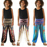 Kids Girls Boy Boho Floral Hippy Gypsy Harem Pants Aladin Loose Lantern Trousers