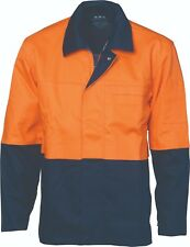 DNC HiVis Patron Saint Flame Retardant 2 Tone Drill ARC Rated Weld's Work Jacket